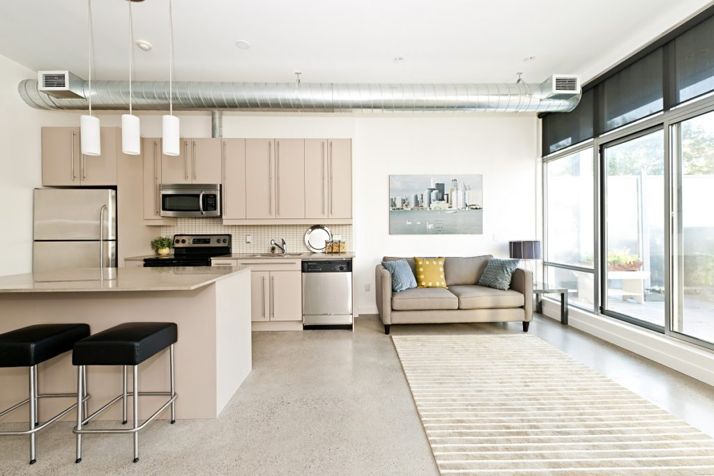 Modern industrial condo unit
