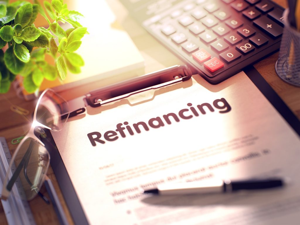 Refinancing document on the table