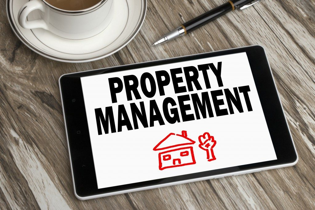 Property management tablet